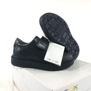 Geox Respira J Riddock Black Uniform Shoes